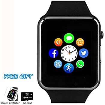 Amazon.com: A1 Smart Wrist Watch Bluetooth Waterproof GSM ...