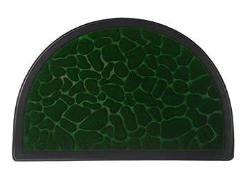 Hälfte rund fußmatte eingang teppich bodenmatten farbe streifen