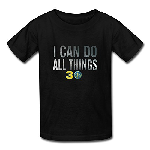 Youth's Warriors Curry I Can Do All Things T Shirt L Black