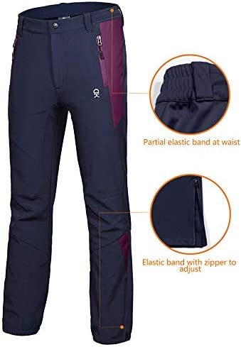 Little Donkey Andy Women's Winter Hiking Ski Snowboarding Pants, Softshell Pants, Fleece Lined and Water Repellant