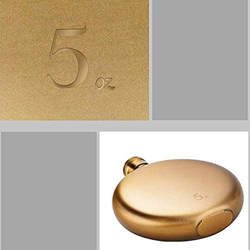 Dongbin Edelstahl Gold Flachmänner, Tragbare Mini Retro Kreative Auslaufsicher Flachmann Groomsmen Geschenk