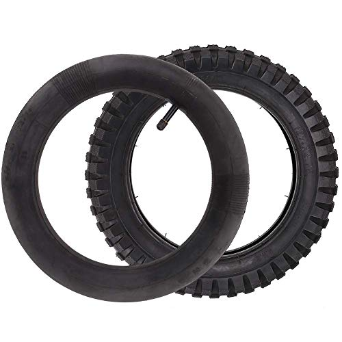 LotFancy 12.5x2.75 (12-1/2x2.75) Tire & Inner Tube Set for Razor Electric Dirt Bike MX350 MX400, X-Treme X-560 - Heavy Duty Scooter Tire Tube for Mini Pocket Bikes, 2 -