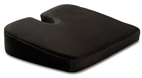 TravelMate Large Medium-FIRM Wellness Seat Cushion (Size: 17 x 13 x 3 inches. Color: Black)