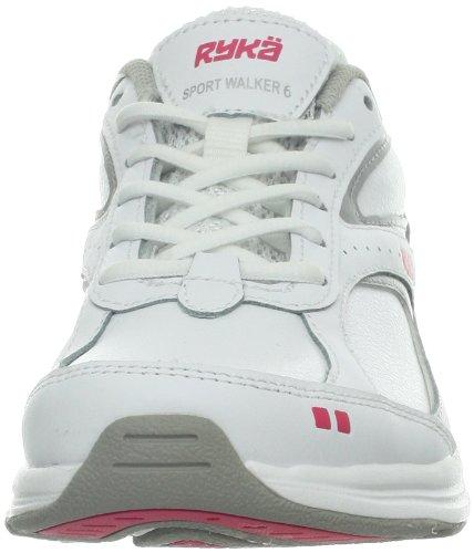Ryka Le Sport De Femmes Marcheur 6 Chaussure De Marche Blanc / Gris / Rose Foncé