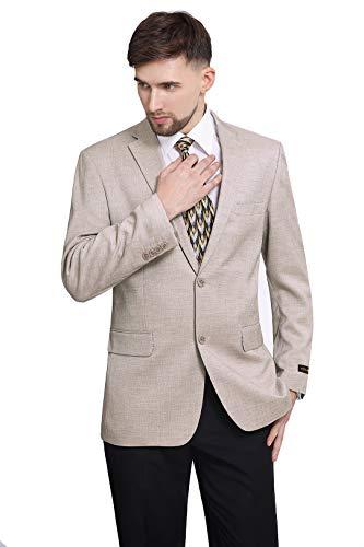 P&L Men's Modern Fit 2-Button Blazer Suit Separate Jacket