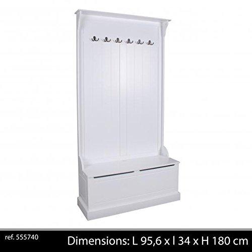 Conjunto mueble entrada blanco con banco baúl de almacenaje ...