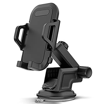 Maxboost DuraHold Series Car Phone Mount for iPhone Xs Max XR X 8 7 6s Plus SE,Galaxy S10 5G S10+ S10e S9 S8 Edge,Note 9,LG G8,Pixel,HTC[Washable Strong Sticky Gel Pad/Extendable Holder Arm (Upgrade)]