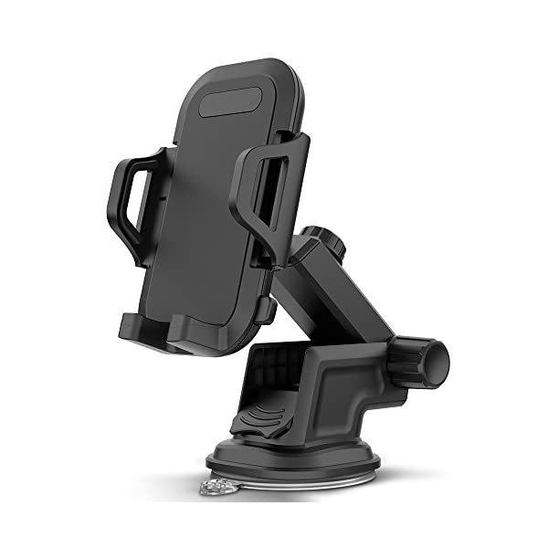 Maxboost DuraHold Series Car Phone Mount for iPhone 11 Pro Xs Max XR X 8 7 6s Plus SE,Galaxy S10 5G S10+ S10e S9,Note 10,LG G8,Pixel,HTC[Washable Strong Sticky Gel Pad/Extendable Holder Arm (Upgrade)]