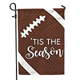 Cheap Second East Tis The Season Football Garden Flag Outdoor Patio Seasonal Holiday Fabric 12″X18″