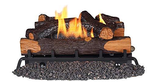 REMINGTON REM-L240CNR-F Vent-Free Thermostatic-Controlled Log Set w/Remote; Natural Gas (Fireplace Logs Vent Free)