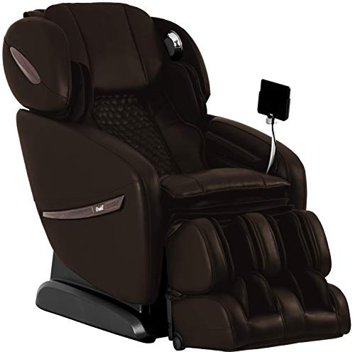 Osaki OS-Pro Alpina Zero Gravity Massage Chair, L+S Track Design, Heart Rate Sensor, Foot Rollers, and Touch Screen Remote (Brown)