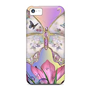 Great Hard Phone Case For Iphone 5c (wvU4516BBOa) Support Personal Customs Vivid Butterfly Pictures