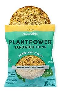 Outer Aisle Gourmet Cauliflower Sandwich Thins - Low Carb