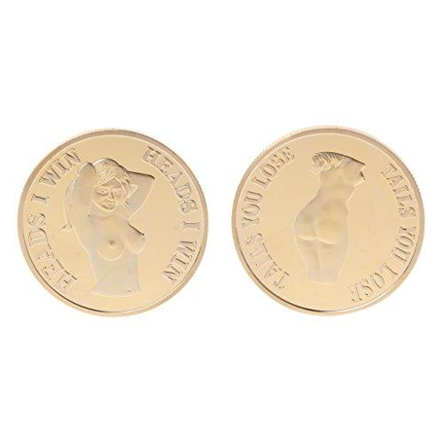 puhoon Commemorative Coin, Commemorative Coin Sexy Women Lady Body Gold Silver Collection Art Gift Souvenir, Valuable Coin for Commemoration, 156# (Dollar Error Coin)