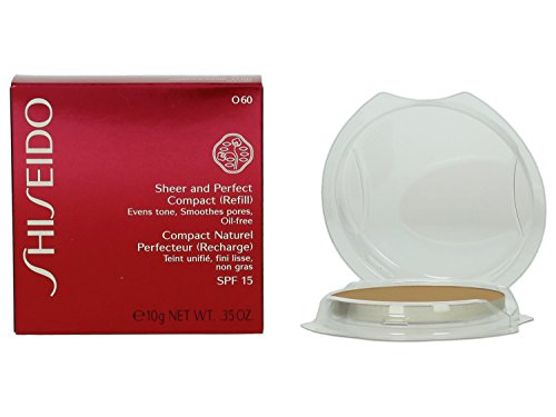 - Shiseido Sheer and Perfect Compact Foundation Refill SPF 21 - O60 Natural Deep Ochre