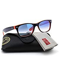 a8c74d9c74a Amazon.com  Ray-Ban RB2132 789 3F NEW WAYFARER Unisex Sunglasses Gradient (Blue  Orange Frame   Gradient Blue Lens 789 3F