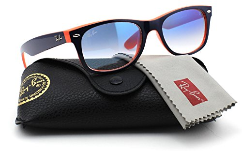 Ray-Ban RB2132 789/3F NEW WAYFARER Unisex Sunglasses Gradient (Blue Orange Frame / Gradient Blue Lens 789/3F, - Ban Wayfarer Sunglasses Ray Small