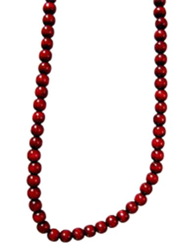 kurt adler 9ft burgundy wooden bead garland christmas decoration large image - Christmas Beaded Garland Decorations
