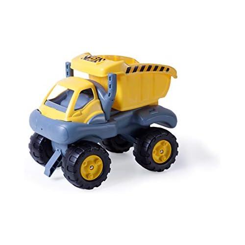 chollos oferta descuentos barato Miniland Moster Truck Correpasillos volquete Color Amarillo y Gris 45151
