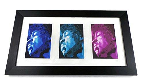 Jimi Hendrix Limited Edition Triple Framed Art Print ()