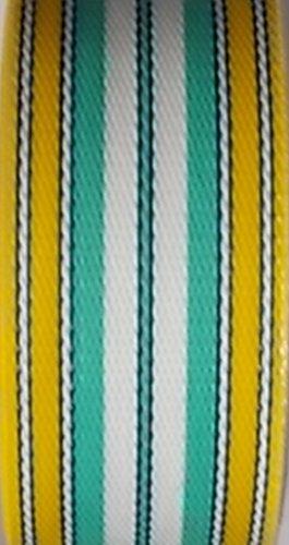 WebbingPro(TM) Lawn Chair Webbing - Yellow and Sea Foam Webbing 2 1/4 Inches Wide 100 Feet Long Roll