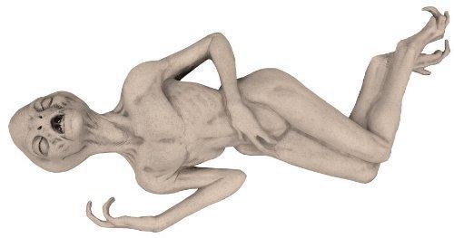 REALISTIC DEAD ALIEN PROP UFO FX Foam Filled Latex Halloween Haunted House - DU2362 by -