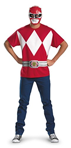 Disguise Mens Alternative Power Rangers Red Ranger Theme Party Dress Costume, Plus (50-52) (Ranger Covers Red Boot)