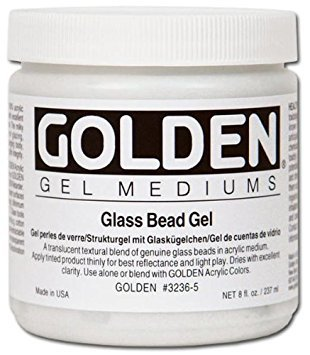 (Golden Artist Colors - Glass Bead Gel - 32 oz Jar)