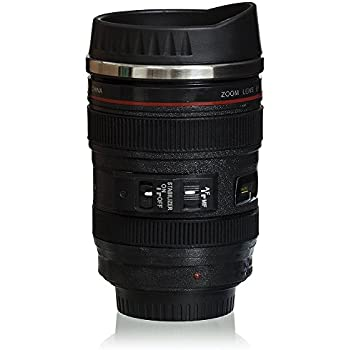 Amazon.com | Trademark Camera Lens Coffee Mug with Lid by ...