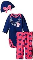 Gerber Baby Girls' 3 Piece Bodysuit, Cap, and Pant Set