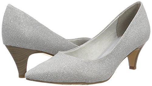 Glam Silver 22415 Zapatos Tamaris Mujer Plateado Tacón para de 7PUqn8gw