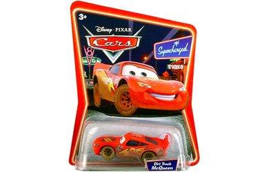 Disney / Pixar Cars 1:55 Scale Die Cast Car the World of Cars Dirt Track Lightning Mcqueen #03