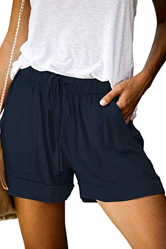 ONLYSHE Womens Casual Drawstring Pocketed Shorts Summer Loose Athletic Sports Short Pants