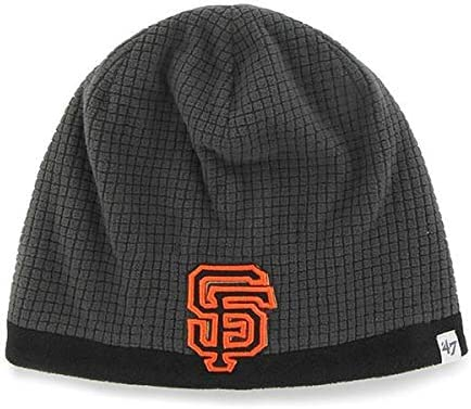 47 MLB Child//Kids Cuffless Grid Fleece Beanie Hat Youth MLB Knit Skull Winter Cap