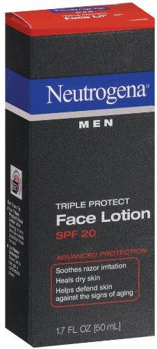 Neutrogena Triple Protection Lotion pour le visage pour les hommes, FPS 20, 1,7 once (Pack de 2)