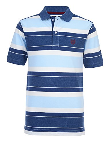 - Chaps Boys' Big Short Sleeve Striped Polo with Stretch, Andy Ink, M10/12