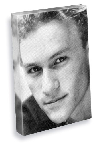 HEATH LEDGER - Canvas Print (A5 - Signed by the Artist) (Heath Ledger Signed)