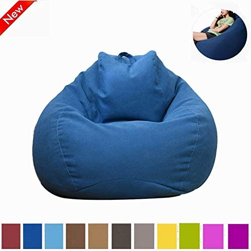Myfreed Bean Bag Chair, Ultra Soft Bean Bags Chairs Sofa Furniture for Kids Teens Adults with Removable Cover Deep Blue, M-31 x35