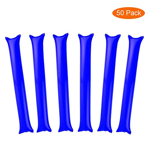 Football Noise Makers (Thunder Sticks, Inflatable Stadium Noisemakers Bam Bam Cheer Sticks Blow Bar Inflatable Boom Sticks Noisemakers Stick Basketball Football Noisemakers Party Favors)