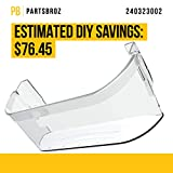 PartsBroz 240323002 Bottom Door Bin Shelf