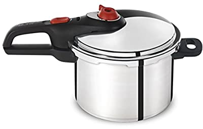 T-fal P2614634 Secure Aluminum Initiatives Pressure Cooker Cookware, 6-Quart, Siver