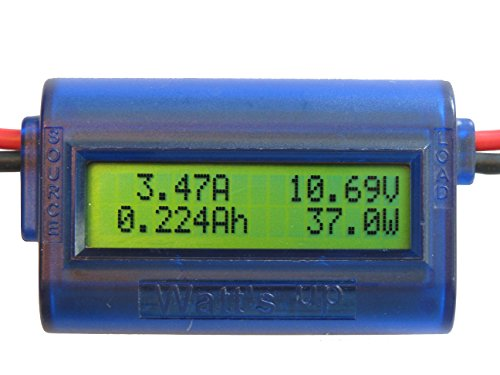 "RC Electronics, Inc. ""Watt's Up"" WU100 DC Watt meter and Power Analyzer (Blue)"