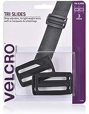 VELCRO Brand Tri Slide Buckles - Repair and Adjust Backpack, Shoulder Bag and School Bag Straps - 6 Pack, Black