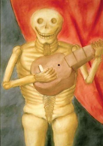 1st Art Gallery Dead Playing Guitar La Muerte Tocando Guitarra 24X34 [Kitchen]