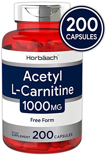 Acetyl L-Carnitine 1000 mg 200 Capsules | ALCAR | Non-GMO, Gluten Free | by Horbaach