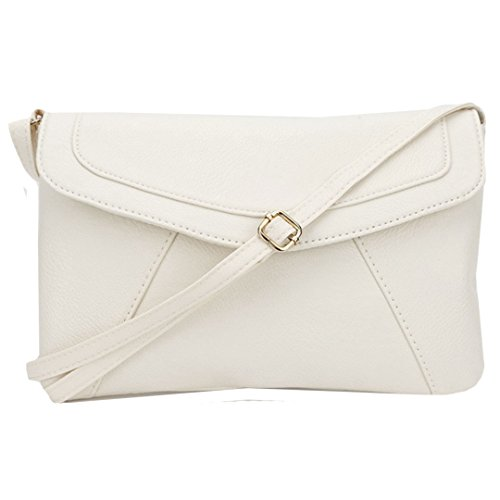 Felice Women Leather Envelope Satchel Small Crossbody Shoulder Bag Purse (Small Satchel Shoulder Bag)