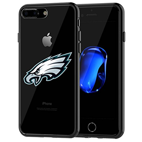 Eagles iPhone 7 Plus Tough Case, Shock Absorption TPU + Translucent Frosted Anti-Scratch Hard Backplate Back Cover for iPhone 7 Plus- Black