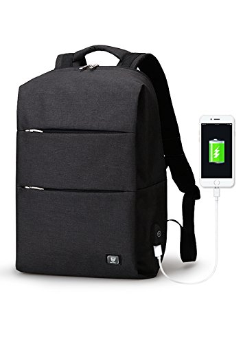 Anti-theft Laptop Backpack, Polar Panda Smart Business Bags with USB Charging Port Water Resistant School Bookbag for College Travel Backpack for 15.6-Inch Laptop and Notebook