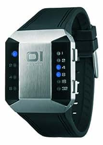 Binary THE ONE SC115B3 - Reloj digital unisex de cuarzo con correa de goma negra - sumergible a 30 metros