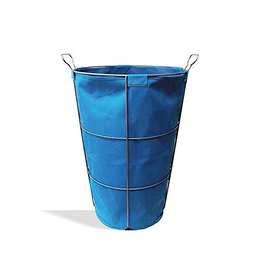 (HONGLIAN Storage box Oxford cloth storage box coat blanket book toy DVD craft laundry towel storage (blue, brown) HONGLIAN (Size :)